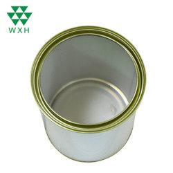 4L de la peinture de l'étain peut avec le fer blanc ronde d'impression personnalisée produit chimique peut l'étain métal peinture conteneur de stockage