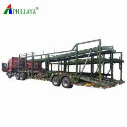 2 assi raddoppiano il rimorchio di sollevamento idraulico dell'automobile del camion dell'elemento portante del pavimento semi