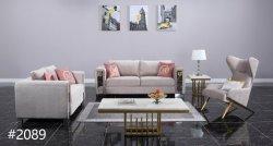El bastidor de madera maciza sofás de terciopelo con tela para muebles de salón