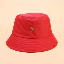 Cappello divertente della benna del cotone di golf dell'OEM di marchio di sport rosso su ordinazione esterno di safari