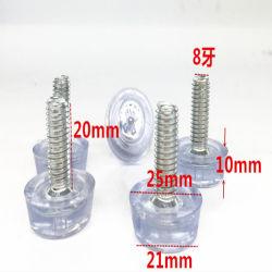 Protezioni di estremità di gomma della tubazione della radura della plastica di silicone che livellano la vite del regolatore di piedi