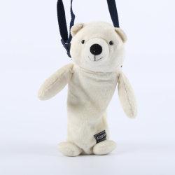 Blanc et Rose un jouet en peluche ours en peluche avec la courroie
