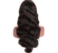 ブラジルボディ波のGluelessの自然なヘアライン完全なレースのかつらの卸売の安い人間の毛髪