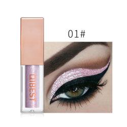 El 15 de líquido brillante de color de sombra de ojos maquillaje de alto brillo Stick