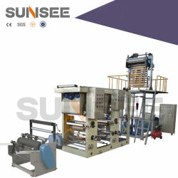 Bolsa con cremallera Extruding-Printing totalmente automática Máquina de corte de fábrica (incluido)