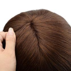 Lw5227 belle perruque de cheveux Remy Glueless Silicium Mono Base antidérapante avec les systèmes de cheveux des femmes