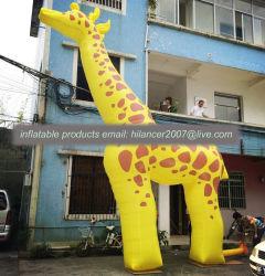 2019 새로운 맞춤형 대형 팽창식 Giraffe 동물 판매
