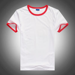 Form-Mann-Leerzeichen weißes Lycra T-Shirt mit kurzer Hülse