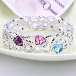 Miríade de amor - Liga de moda Bangle encantador bracelete de Cristal