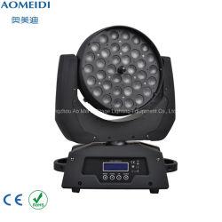 la testa mobile della lavata dello zoom LED di 36PCS 10W 4in1 illumina la discoteca