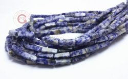 自然な宝石用原石の長方形の管の瑪瑙は4X13mmの緩い繊維の方法宝石類の工場卸売に玉を付ける