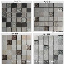 Venda por grosso em forma de Quadrado Mix azulejos de parede de vidro mosaico de pedra mármore