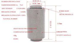 Резиновые для изготовителей оборудования согласно спецификации с металлической трубки амортизатора резиновую Rube шатуна