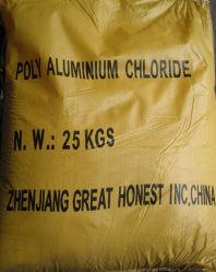 El tratamiento de aguas de color blanco lechoso de color amarillo poli cloruro de aluminio
