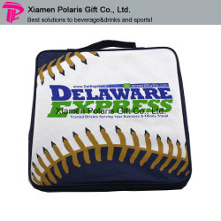 Kundenspezifische wasserdichter Baseball-Muster-Sitzsitzende Auflage mit seitlicher Tasche