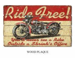 2016 Nouvelle conception de plaque de bois décoratifs en bois mur avec la moto