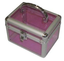Estojo de maquiagem de alumínio, kit de manicure