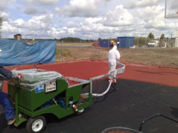 Athletic Running Track를 위한 스프레이어 Machine