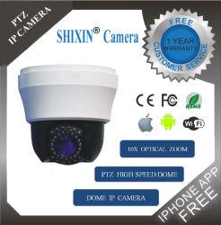 480TVL OSD Zoom optique 10x haute vitesse CCTV Indoor Dôme caméra analogique CCD (SX-680AD-3)
