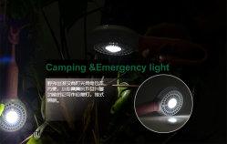 2200mAh wiederaufladbare Notfall-LED-Lampe mit Handgriff Mini-Ventilator Und Mobile Stromversorgung