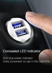 車の充電器小型二重USB車の充電器電話2 iPhone 7 SamsungのポートUSBの速く車充電器のための車スタイルを作るUSBの充電器