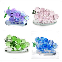 Cadeau de mariage de haute qualité Décoration Verre en cristal de raisins