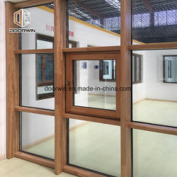 Mur rideau de fenêtre en bois massif