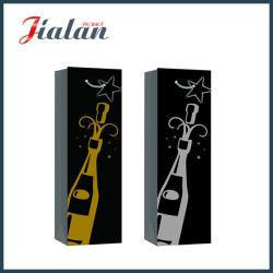 Schwarzes Papier mit heißen stempelnden Wein-Flaschen-Papier-Geschenk-Beuteln