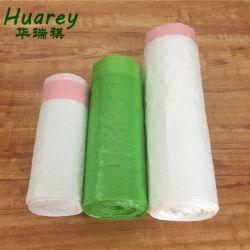 Le PEHD des sacs poubelle Sacs à ordures en plastique avec Drawtape