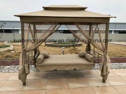 Sunbed 그네를 가진 방석 안뜰을%s 가진 옥외 그네 침대 의자