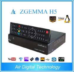 2018년 리눅스 Zgemma H5 Hevc/H. 265 결합 조율사 인공 위성 수신 장치 코어 텔레비젼 상자