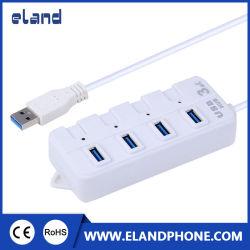 Portátil ultra fino 4 porta USB Multi 3.0 Hub USB, teclado mouse Phone Flash Drive de carregamento de dados