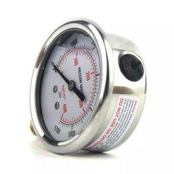 Aço inoxidável gás líquido de óleo de pressão de latão manómetro o Manômetro Hidráulico, tubo de Bourdon Analog Manómetro