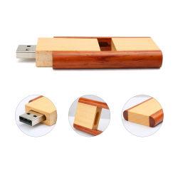 La torsion de pliage de haute qualité en bois Plume1 Gig USB 4GB 8Go et 16 Go et 32 Go Lecteur Flash USB 2.0 pivotant