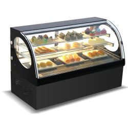 المطبخ التجاري كعكة CD1200 الصلب المقاوم للصدأ عرض البراد زجاج عرض خزانة الحلويات لمنزل المخبز