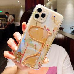 ملحقات الهاتف المحمول شبه، البولي يورثان المتلدن بالحرارة (TPU)، تصميم للنساء، حيوانات منقوشة، حيوانات الجراف، الأفيال