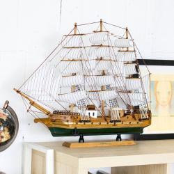 Náutica barco velero de madera hechos a mano artesanía en madera de estilo retro el modo de envío