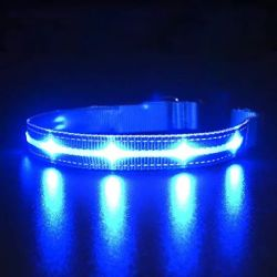 PET LED-halsband licht omhoog Dog kraag USB-opladen LED nylon halsband Pet-producten