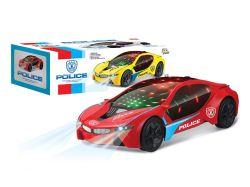 Nuevo Coche de juguete de plástico con luz y la música popular coche funciona con batería de 3D