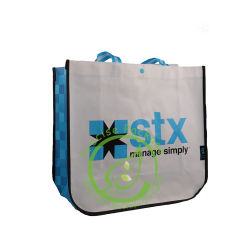 EcoはResuableの自然なファイバーの非編まれたショッピング・バッグの製造業者を印刷した