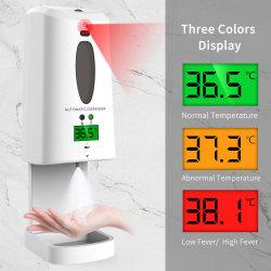 На заводе Custom 2 в 1 Термометр автоматического дозирования Soap Touchless Hands Free Авто промойте вспенивания жидкости спирта диспенсер для опрыскивания