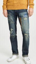2020 jeans poco costosi lavati blu-chiaro di marchio dei jeans del denim di marca degli uomini dei jeans dei ragazzi dei pantaloni su ordinazione dei pantaloni