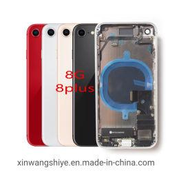 علبة الهاتف المحمول الخلفية لهاتف iPhone 8 8بالإضافة إلى مبيت خلفي مع مجموعة باب غطاء البطارية الخلفي مع أجزاء صغيرة مع كبل مرن