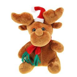 لعبة الحيوانات مع قبعة ووشاح مخصصة 25 سم ناعم جميل محشو بمخموق كريسماس