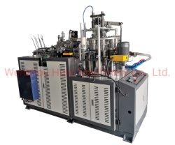 Profesional de alta velocidad y el papel de la máquina formadora de vasos de papel inteligente de la copa con aplicador de mango en línea