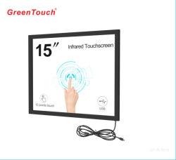 IR de 15 pulgadas de pantalla táctil de tocar el bastidor de infrarrojos para el pago de panel táctil Multimedia autoservicio Quiosco interactivo