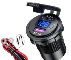 전압 버스 예비 부품이 있는 PD 고속 USB 충전기