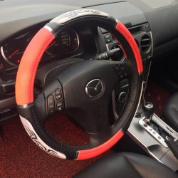 Крышка рулевого колеса из натуральной кожи белого внутреннего кольца