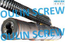 92/188 Doppelkegale Schraube und Zylinder für PVC WPC Extrusion