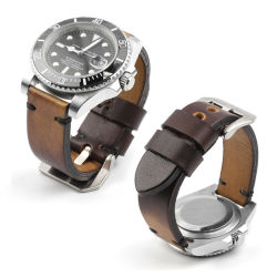 Nuevo diseño Vintage Brown Leather 20mm correa de reloj correas Para hombres